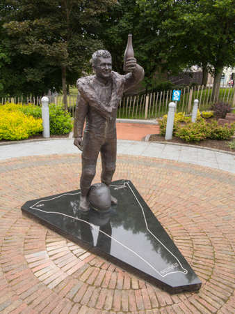 memorial to road motor bike racing legend Robert Dunlop brother of Joey Dunlop