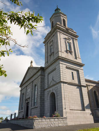 tall church tower on a modern Irish church Stock Photo