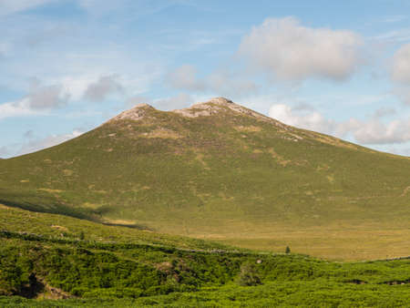 mourne: an Irish mountain part of the Mourne range Stock Photo
