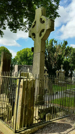 Old celtic cross im monasterboice co.louth, southern ireland
