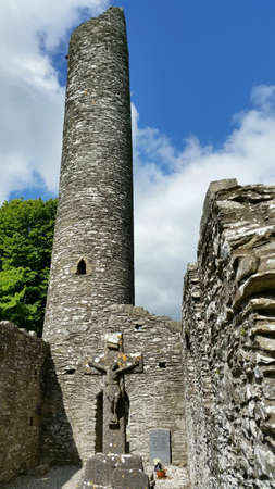 Watchtower of an old monastery in co.louth southern ireland Stock Photo