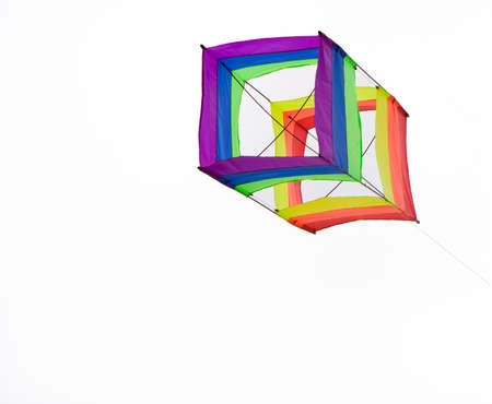 box kite isolated with a white back ground