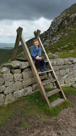 Boy in mournes ireland