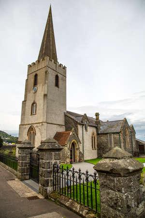 irish countryside: an old irish church with steeple