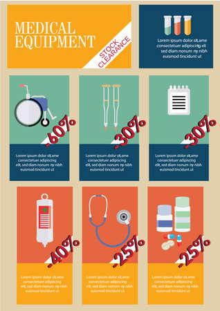 medical equipment: Infographic of medical equipment Illustration