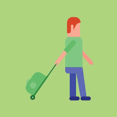 trolley: Man with a trolley bag
