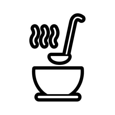 ladle: Soup bowl with ladle