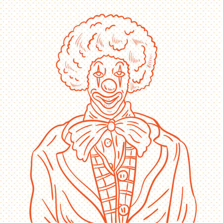 buffoon: Hand drawn clown Illustration
