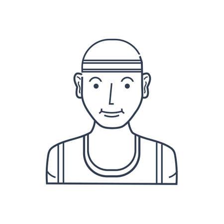 headband: Man with headband