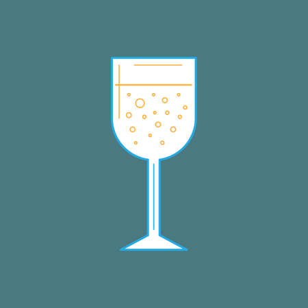 cooled: Glass of wine