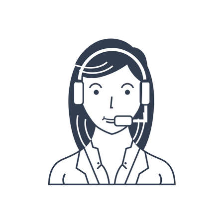 kunden service: Kunden Service Executive Illustration