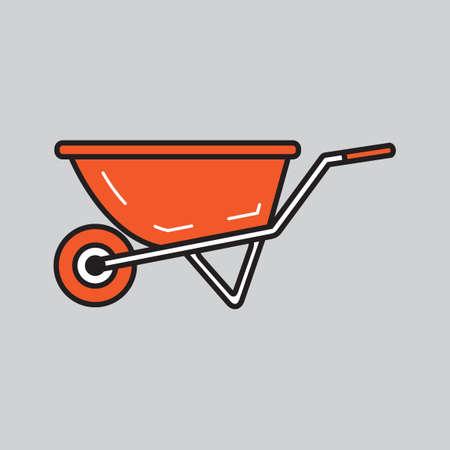 carriers: Wheelbarrow Illustration