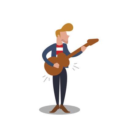 man playing guitar: Man playing guitar