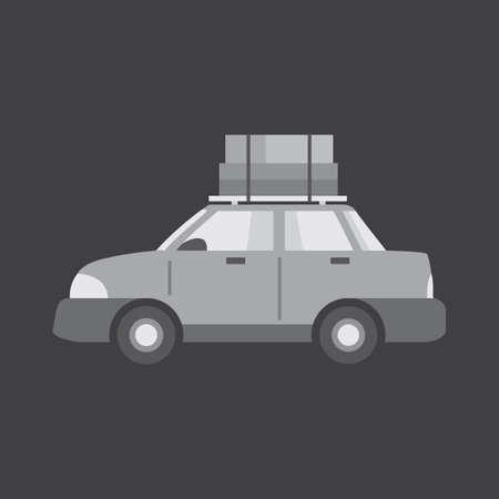 four wheeler: Car with luggage