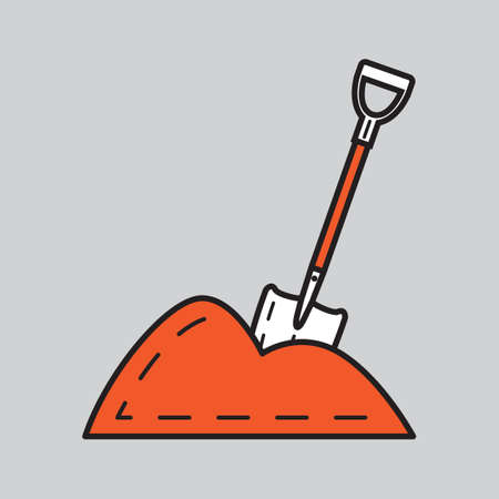 시멘트: A shovel in pile of cement