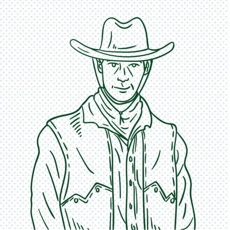 herder: Hand drawn cowboy Illustration