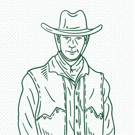 herder: Hand drawn cowboy Illustration