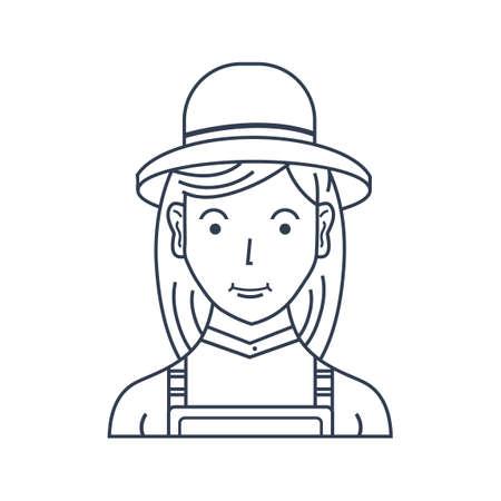 peasant woman: Farmer Illustration