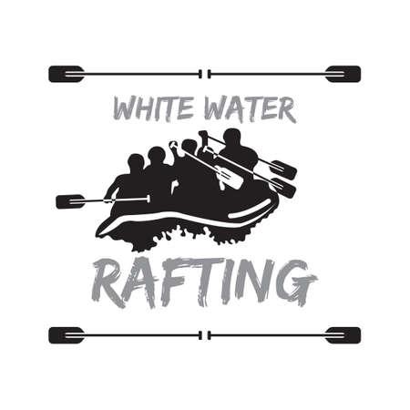 White water rafting Illustration