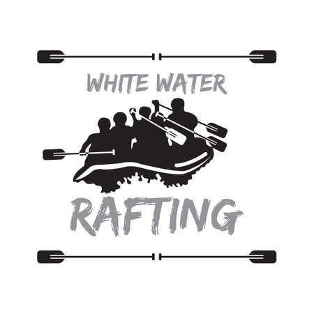 White water rafting Ilustrace