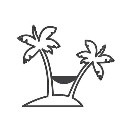 hammock: Palm tree with hammock