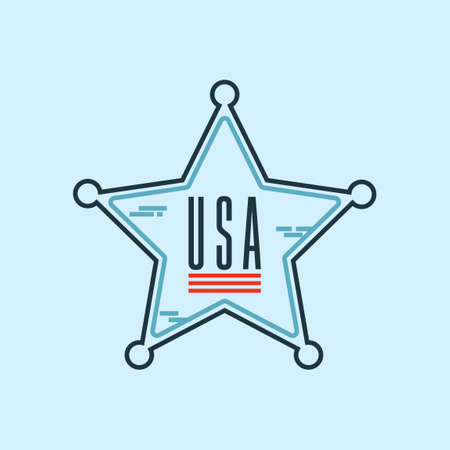 basic law: Sheriff star badge