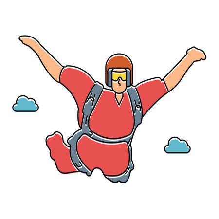 thrill: Skydiver Illustration