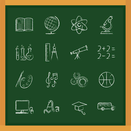 additional chemicals: Set of education icons Illustration