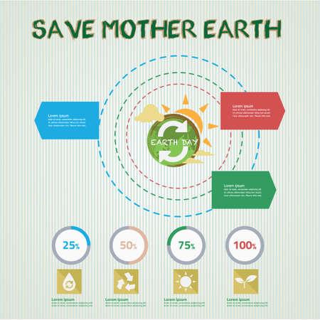 madre tierra: Guarde la madre tierra infografía