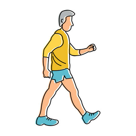 man side view: Man walking