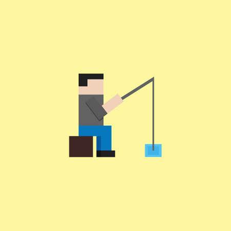 hombre pescando: Man fishing