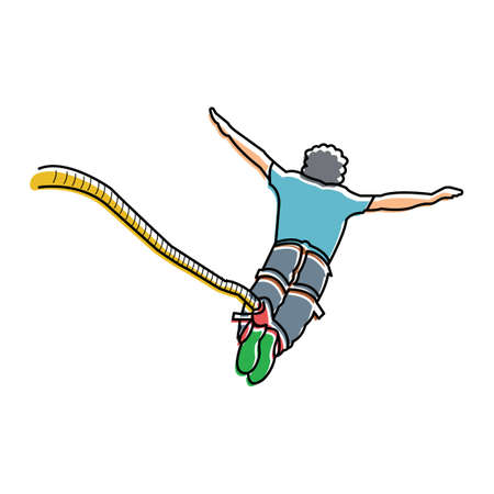 bungee jumping: Puenting Vectores