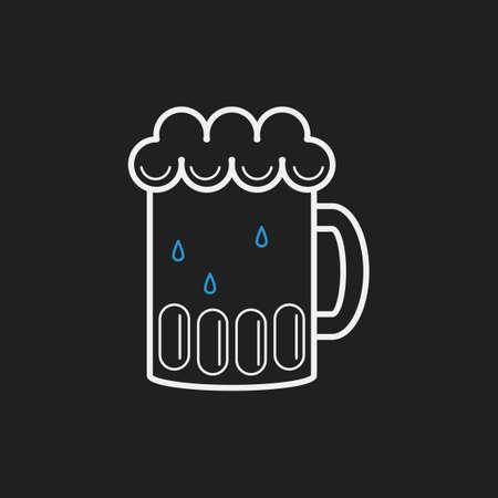 cooled: Mug of beer