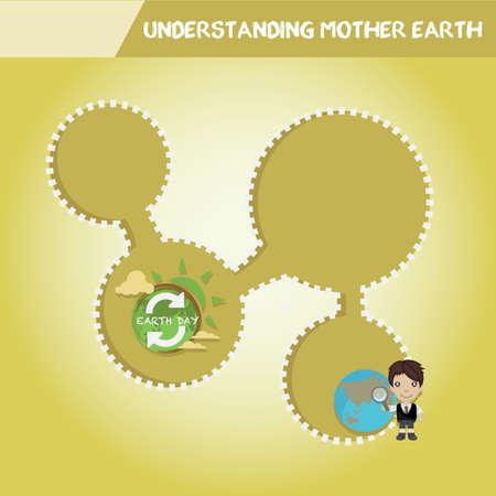 madre tierra: Entendimiento madre tierra infograf�a Vectores