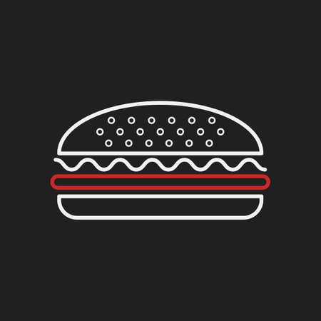 basic food: Burger Illustration