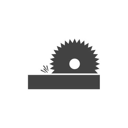 circular saw: Circular saw machine Illustration