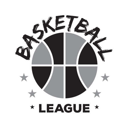 league: Basketball league sticker Illustration