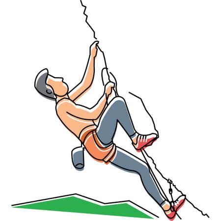rock climbing: Man rock climbing