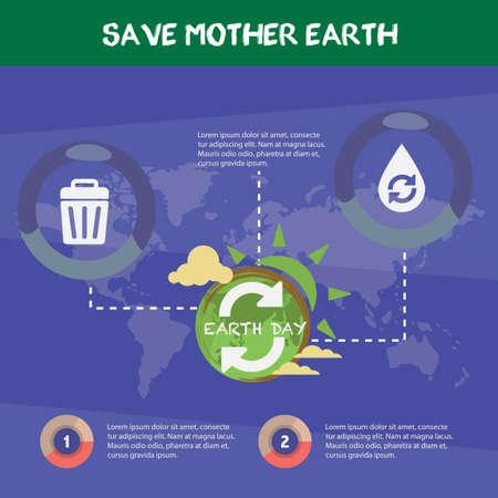 madre terra: Salvare la madre terra infografica