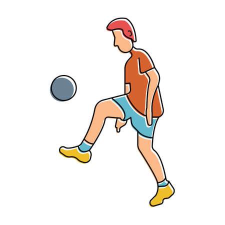 kicking ball: Hombre pelota patadas