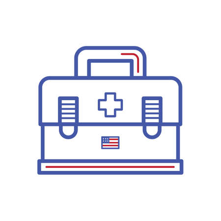 erste hilfe koffer: Erste-Hilfe-Set  Illustration
