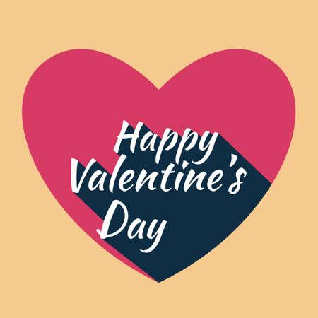 happy valentines day: Happy valentines day card Illustration