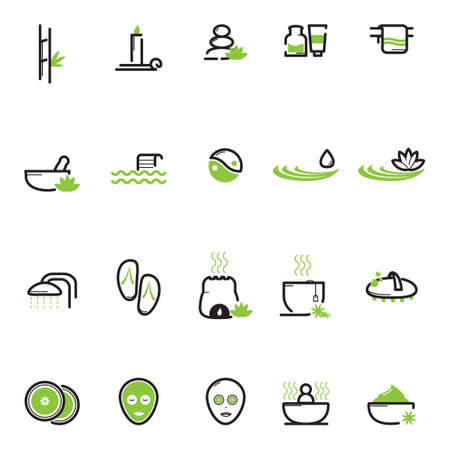 face treatment: Set of spa icons