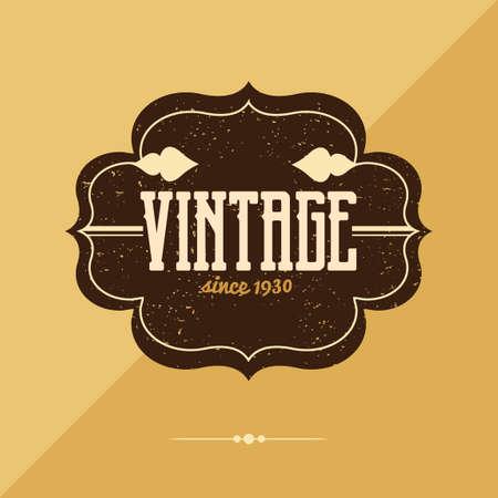 vintage: Vintage label