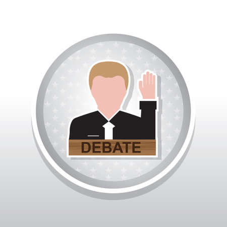 debate: Man with debate plate