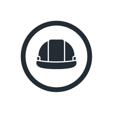 hard: Hard hat icon Illustration