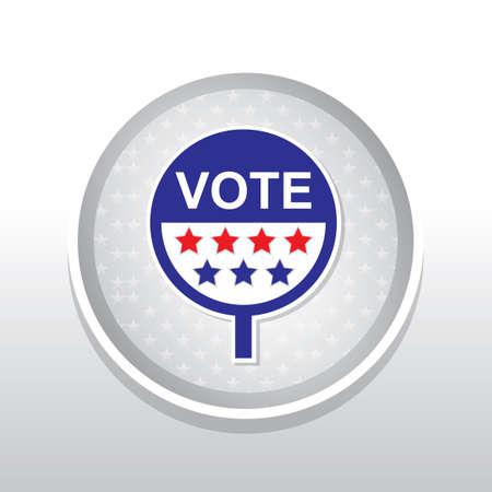 polls: Vote placard