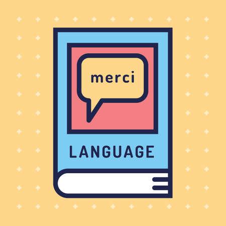 textbook: Language textbook Illustration