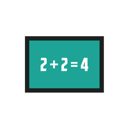 addition: Chalkboard with mathematical equations