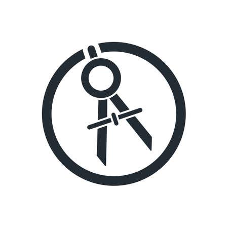 compas de dibujo: Dibujo icono de brújula